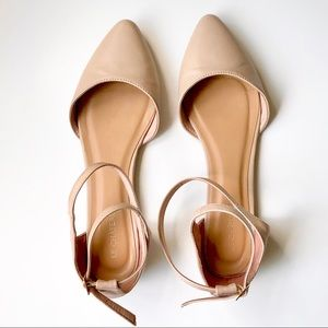 Le Chateau | Faux Leather Pointy Toe d'Orsay Flat